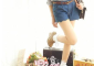 日本vivi推荐 lena棉质复古蕾丝花边白色短袜 裸色高跟