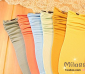 B流行日系 MM混搭彩色糖果堆堆袜 复古短袜子/中筒袜 全腈纶