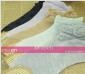 袜子 女 纯棉 短袜 夏季 薄款 棉袜 荷叶边 卡丝船袜 韩版