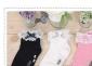 1-4岁(W363)纯棉儿童袜子/花边公主袜/蝴蝶结百搭芭蕾袜